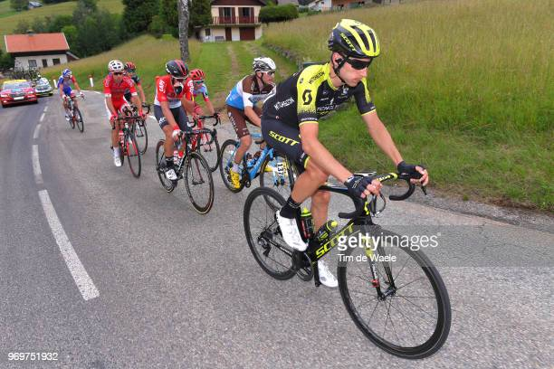 Carlos Verona of Spain and Team MitcheltonScott / Alexis Gougeard of France and Team AG2R La Mondiale / Thomas De Gendt of Belgium and Team Lotto...
