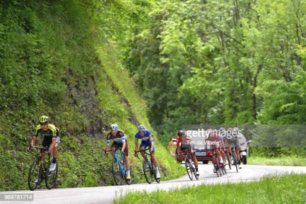 Carlos Verona of Spain and Team MitcheltonScott / Alexis Gougeard of France and Team AG2R La Mondiale / Laurens De Plus of Belgium and Team QuickStep...