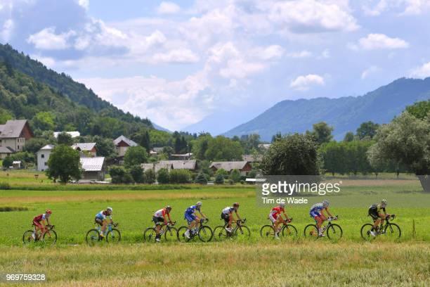Carlos Verona of Spain and Team MitcheltonScott / Bruno Armirail of France and Team Groupama FDJ / Nicolas Edet of France and Team Cofidis / Edward...