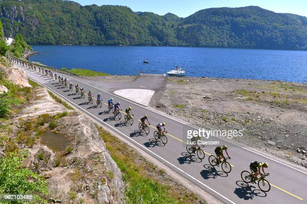 Carlos Verona of Spain and Team MitcheltonScott Polka Dot Mountain Jersey / Peloton / Landscape / during the 11th Tour des Fjords 2018 Stage 3 a...