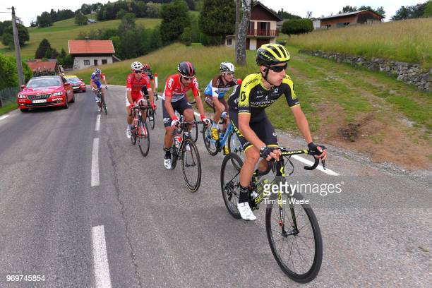Carlos Verona of Spain and Team MitcheltonScott / Thomas De Gendt of Belgium and Team Lotto Soudal / Alexis Gougeard of France and Team AG2R La...