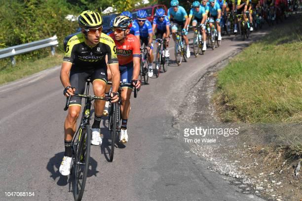 Carlos Verona of Spain and Team MitcheltonScott / Valerio Agnoli of Italy and Bahrain Merida Pro Cycling Team / during the 23rd Gran Premio Bruno...