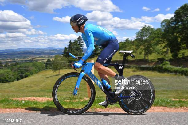 Carlos Verona Quintanilla of Spain and Movistar Team / during the 71st Criterium du Dauphine 2019 Stage 4 a 261km Individual Time Trial stage from...