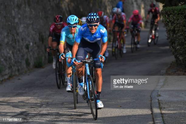 Carlos Verona Quintanilla of Spain and Movistar Team / Jakob Fuglsang of Denmark and Astana Pro Team / Peloton / during the 99th Tre Valli Varesine...