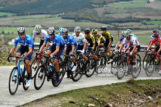 Carlos Verona Quintanilla of Spain and Movistar Team / Luis LeonSanchez Gil of Spain and Astana Pro Team / Marc Soler Gimenez of Spain and Movistar...