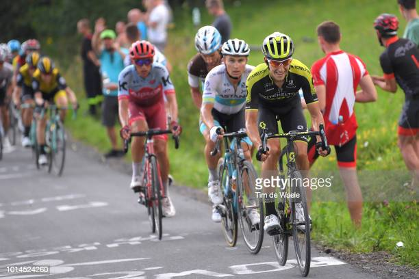 Carlos Verona Quintanilla of Spain and Team Mitchelton Scott / Jhonatan Restrepo of Colombia and Team Katusha Alpecin / Alexey Lutsenko of Kazahkstan...