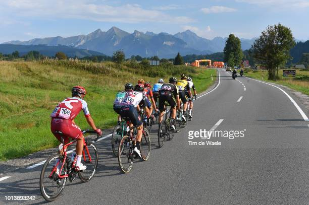 Carlos Verona Quintanilla of Spain and Team Mitchelton Scott / Patrick Konrad of Austria and and Team BoraHansgrohe / Nans Peters of France and Team...