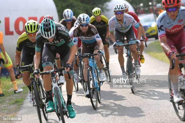 Carlos Verona Quintanilla of Spain and Team Mitchelton Scott / Patrick Konrad of Austria and and Team BoraHansgrohe / Jan Bakelants of Belgium and...