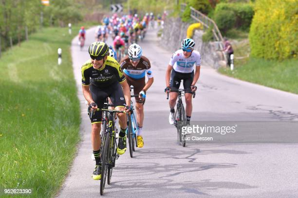 Carlos Verona Quintanilla of Spain and Team MitcheltonScott / Alexis Gougeard of France and Team AG2R La Mondiale / Pavel Sivakov of Rusia and Team...