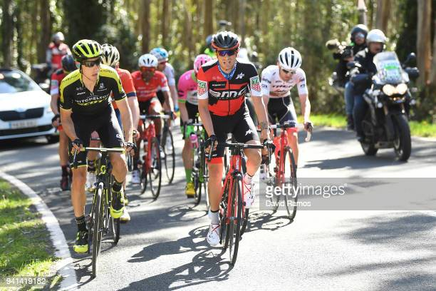 Carlos Verona Quintanilla of Spain and Team MitcheltonScott / Damiano Caruso of Italy and BMC Racing Team / during the 58th Vuelta Pais Vasco 2018...