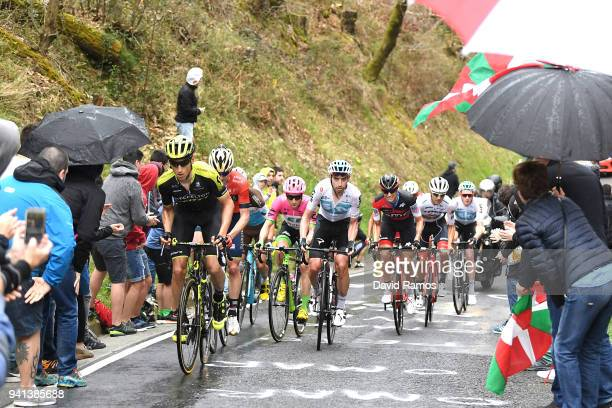 Carlos Verona Quintanilla of Spain and Team MitcheltonScott / David Lopez Garcia of Spain and Team Sky / Alessandro De Marchi of Italy and BMC Racing...