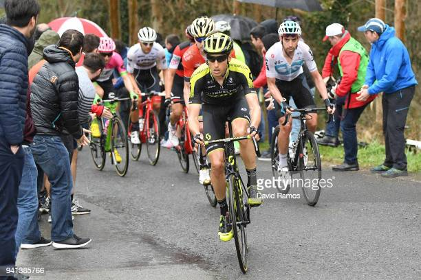 Carlos Verona Quintanilla of Spain and Team MitcheltonScott / David Lopez Garcia of Spain and Team Sky / Public / Fans / during the 58th Vuelta Pais...