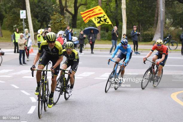 Carlos Verona Quintanilla of Spain and Team MitcheltonScott / Simon Yates of Great Britain and Team MitcheltonScott / Marc Soler of Spain and Team...