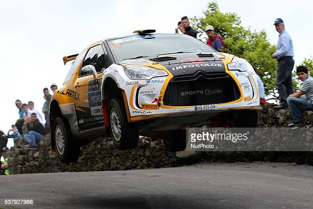 Carlos Vieira and Jorge Carvalho in Citroen DS3 R5 of Sports and You during the SS1 Batalha of the FIA ERC Azores Airlines Rallye 2016 in Ponta...