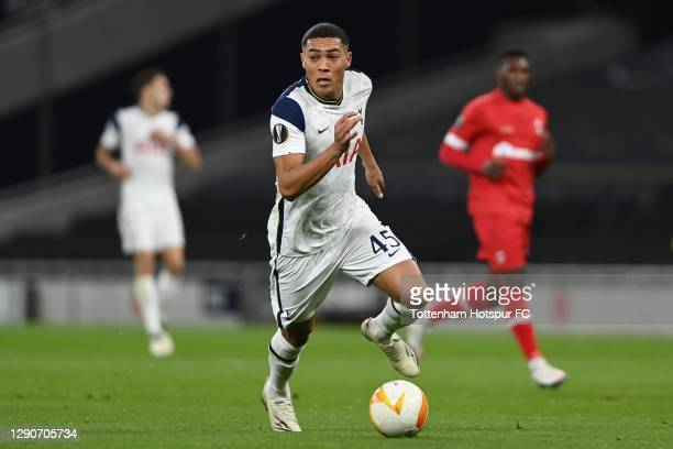 Carlos Vinícius of Tottenham Hotspur in action during the UEFA Europa League Group J stage match between Tottenham Hotspur and Royal Antwerp at...