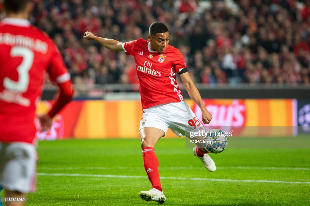 Carlos Vinicius of SL Benfica seen in action during the UEFA... News Photo - Getty Images