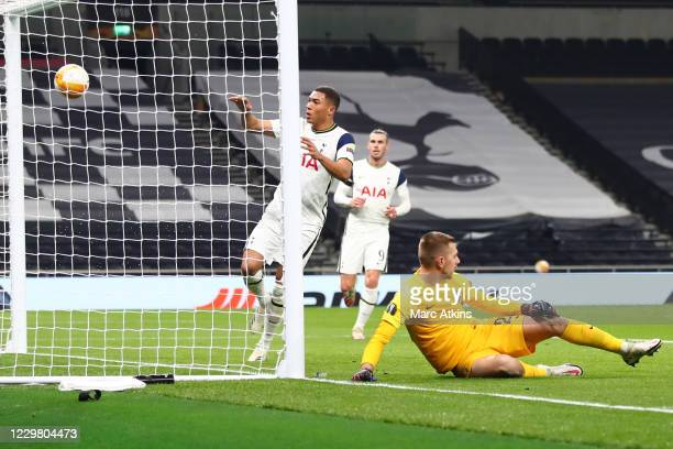 Carlos Vinicius of Tottenham Hotspur scores his 2nd goal during the UEFA Europa League Group J stage match between Tottenham Hotspur and PFC...
