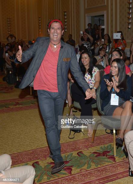 Carlos Vives attends the presents World Cup song during Hispanicize 2014 at Hotel intercontinental on April 2 2014 in Miami Florida