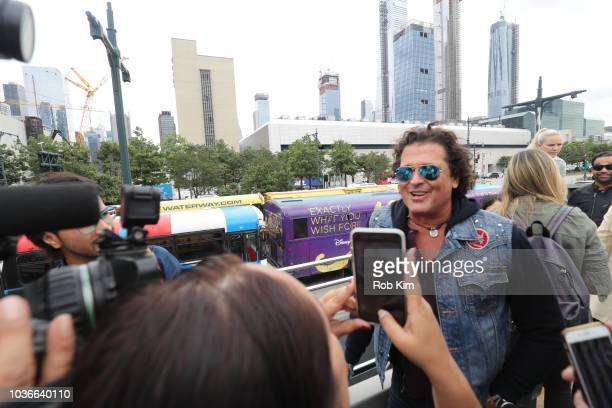 Carlos Vives international Singer and Actor unveils his Ride Of Fame 'IT' bus on September 20 2018 in New York City