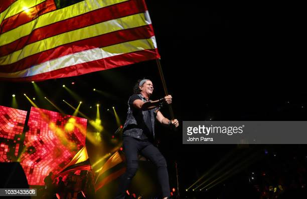 Carlos Vives is seen performing during the Vives Tour Opener at Amway Center Orlando on September 14 2018 in Orlando Florida