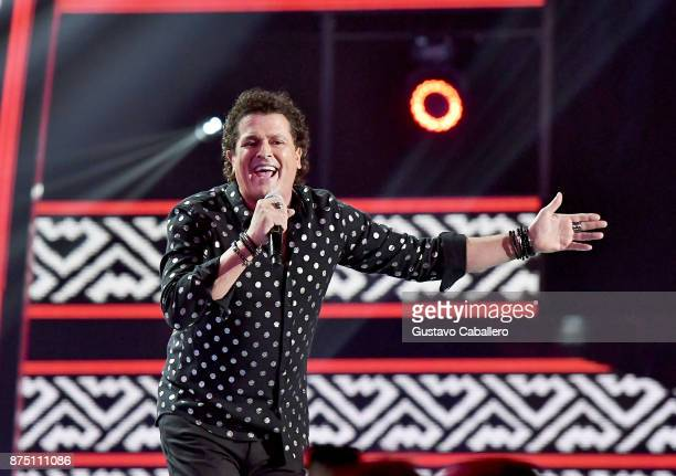 Carlos Vives performs onstage during The 18th Annual Latin Grammy Awards at MGM Grand Garden Arena on November 16 2017 in Las Vegas Nevada