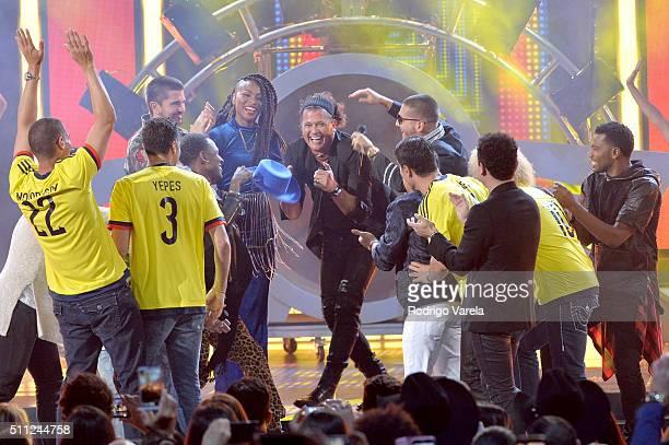 Carlos Vives performs onstage during Univision's 28th Edition of Premio Lo Nuestro A La Musica Latina on February 18 2016 in Miami Florida