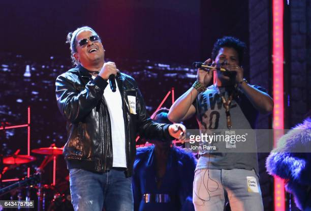 Carlos Vives rehearses on stage at Univision's 29th Edition Of Premio Lo Nuestro A La Musica Latina Rehearsals Day 2 on February 21 2017 in Miami...