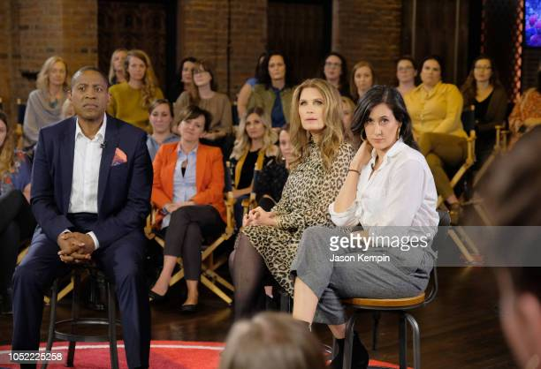 """Carlos Watson, Michele Bachmann and Vanessa Carlton attend the """"Take On America"""" discussion panel presented by Ozy Media on October 15, 2018 in..."""