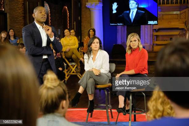 Carlos Watson Vanessa Carlton and Allie Beth Stuckey attend the 'Take On America' discussion panel presented by Ozy Media on October 15 2018 in...