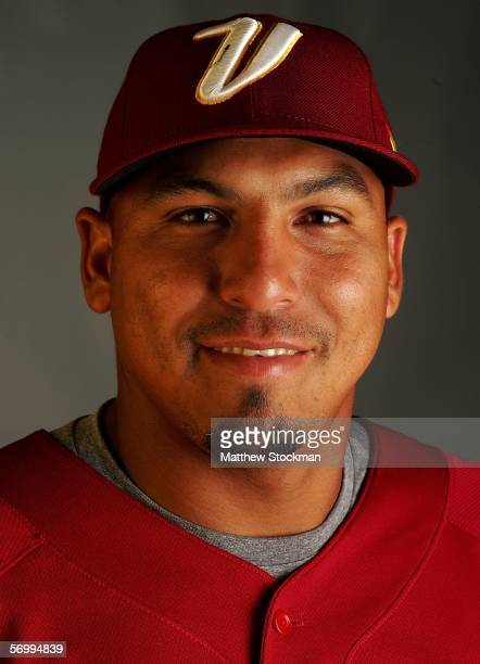 Carlos Zambrano of the 2006 Venezuela World Baseball Classic Team poses for a portrait during training on March 3 2006 at Bright House Networks Field...