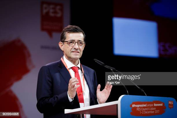 Carlos Zorrinho MEP and Leader of the PS delegation in the European Parliament in the course of the PES party congress on December 01 2017 in Lisbon...