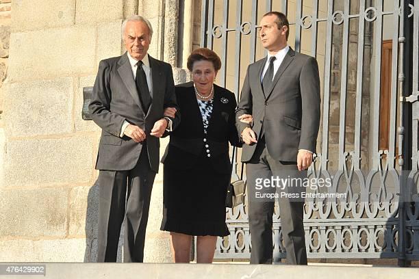 Carlos Zurita Alfonso Zurita and Princess Margarita attend the memorial service for Prince Kardam of Bulgaria at San Jeronimo el Real church on June...