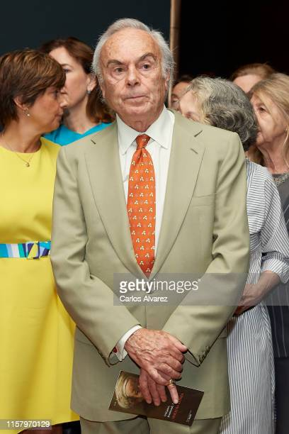 Carlos Zurita attends 'Velazquez Rembrandt Vermeer Miradas Afines' exhibition at El Prado Museum on June 24 2019 in Madrid Spain
