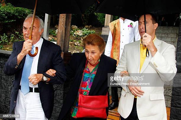 Carlos Zurita Princess Margarita and Alfonso Zurita attend Maria Zurita's 40 birthday on September 16 2015 in Madrid Spain
