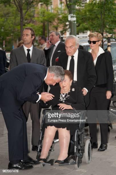 Carlos Zurita Princess Margarita and Maria Zurita attend funeral chapel for Alfonso Moreno De Borbon cousin of King Felipe VI who died at 52 years...