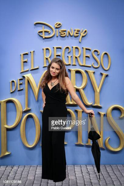 Carlota Boza attends 'El Regreso de Mary Poppins' premiere at Kinelpolis cinema on December 11 2018 in Madrid Spain