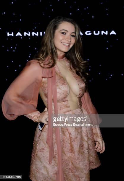 Carlota Boza attends Hannibal Laguna fashion show during the Merecedes Benz Fashion Week Autum/Winter 202021 at Ifema on January 30 2020 in Madrid...
