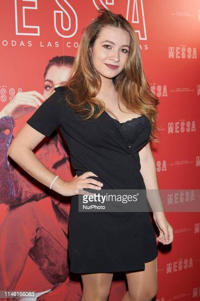 Carlota Boza attends the Alba Messa Concert photocall at Berlin Cafe in Madrid Spain on May 24 2019