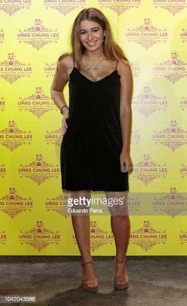 Carlota Boza attends the 'Unas Chung Lee' opening party at Unas Chung Lee bar on September 27 2018 in Madrid Spain