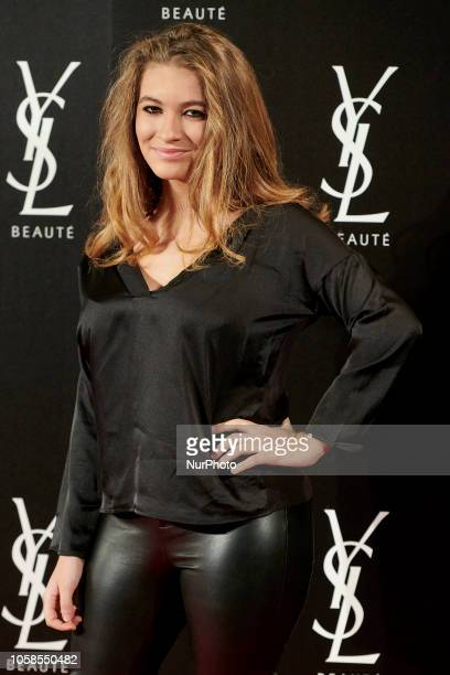 Carlota Boza attends the YVES SAINT LAURENT THE SLIM Rouge PurCouture party photocall at Santona Palace in Madrid on October 6, 2018