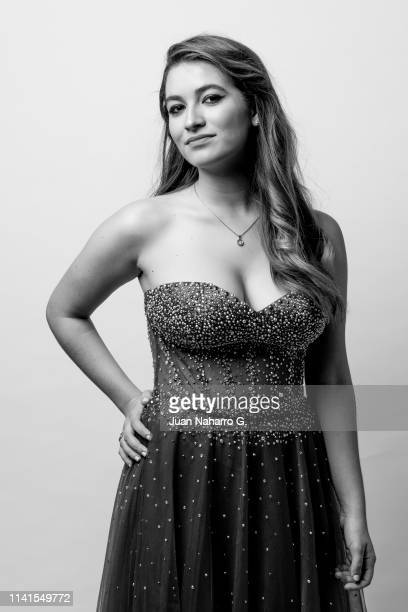 Carlota Boza poses for a portrait session at Teatro Cervantes during 22nd Spanish Film Festival of Malaga on March 23 , 2019 in Malaga, Spain.