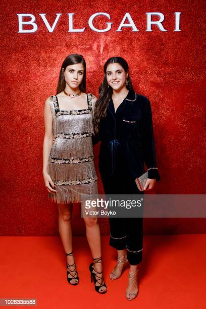 Carlota Bulgari and Marina Bulgari attend the party in Pashkov House as part of the opening of the Bulgari exhibition at Kremlin Museum on September...