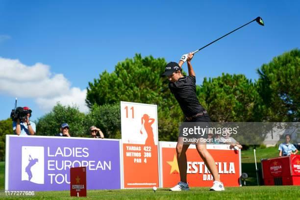 Carlota Ciganda of Spain in action during Day 1 of the Estrella Damm Mediterranean Ladies Open at Club de Golf Terramar on September 26, 2019 in...