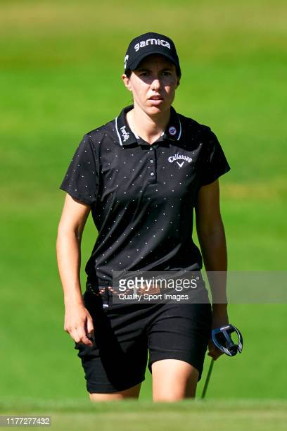 Carlota Ciganda of Spain looks on during Day 1 of the Estrella Damm Mediterranean Ladies Open at Club de Golf Terramar on September 26 2019 in Sitges...