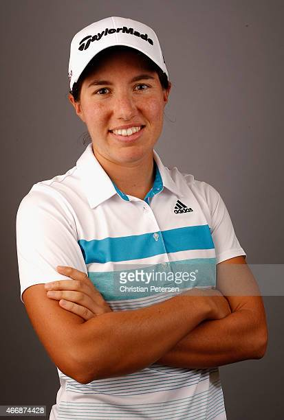 Carlota Ciganda of Spain poses for a portrait ahead of the LPGA Founders Cup at Wildfire Golf Club on March 18 2015 in Phoenix Arizona