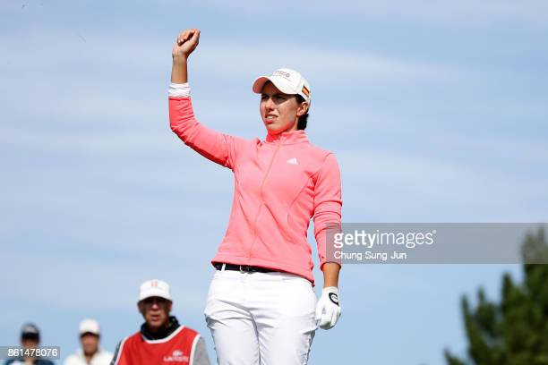 Carlota Ciganda on the 3rd hole during the final round of the LPGA KEB Hana Bank Championship at the Sky 72 Golf Club Ocean Course on October 15 2017...
