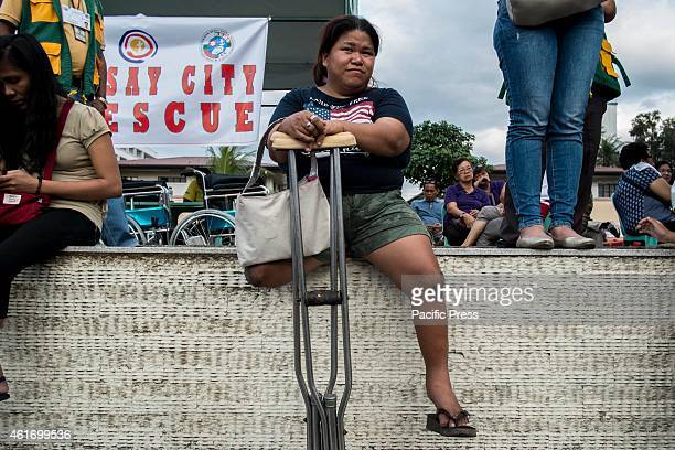 Carlota Peralta 34 years old from Novaliches born with no feet religiously chase the Pope from day 1 hoping to have a glimpse of the Holy Father