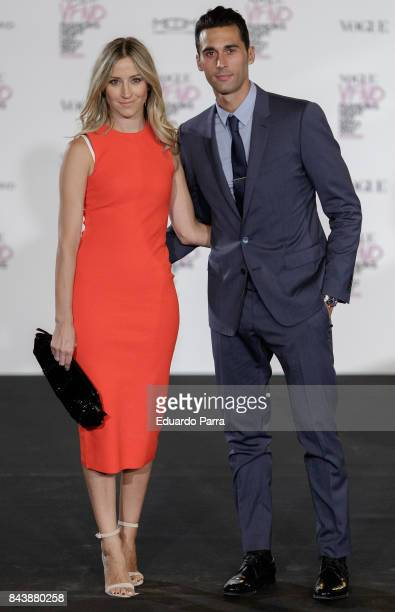 Carlota Ruiz and Alvaro Arbeloa attend the 'Vogue fashion's Night Out' photocall at Ortega y Gasset street on September 7 2017 in Madrid Spain