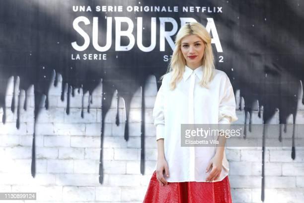 Carlotta Antonelli attends a photocall for Netflix Suburra The Series season 2 at Casa del Cinema on February 20 2019 in Rome Italy