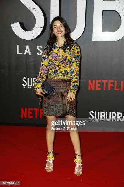 Carlotta Antonelli attends Netflix's Suburra The Series Premiere at The Space Moderno on October 4 2017 in Rome Italy